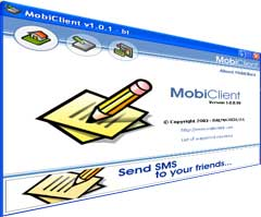 MobiClient is an easy-to-use online free sms service that allows you to send Free Text Messages (free sms) to any US mobile phone right from your desktop. Download free version of sms sending mobile tool is available. Premium sms server, bulk, international usa internet online cell text messaging unlimited, 2 two way, rogers, code.